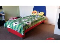 """Silentnight first """"Big Boy/Girl"""" single bed with Headboard & roll out storage boxes"""