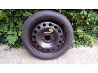 R17 5x120 BMW e46 125 80 Space Saver spare wheel with continental tyre