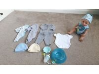 Baby born doll (boy) and accessories