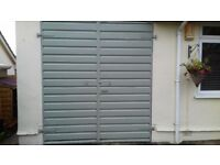 Ģarage doors metal pair (not up & over) galvanised 8'x 7' FREE TO COLLECTOR