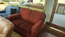 2 Seat Dark Red Sofa