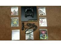 PlayStation 3 250GB (Slim) + 7 Games