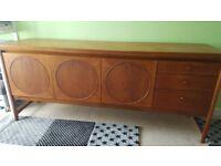 Vintage Retro Nathan Circle Sideboard- refurbished