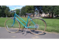 Beautiful Blue Vintage Raleigh 5 Speed Ladies Bicycle With New Brakes!