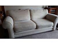 Natural coloured 2 seater sofa