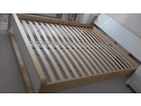 Ikea Anes Wooden Bed Frame King size