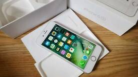 iPhone 6s O2 GiffGaff Tesco Silver BOXED + Screen Protector DELIVERY AVAILABLE