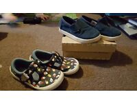 Boys Clarks and Toms size 7