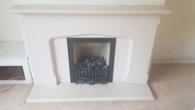 Stone fireplace and gas fire all complete