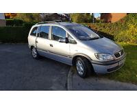 Vauxhall Zafira Comfort | 5/7-seater MPV | Silver | 16V | 1596 cc | towbar | 12 month MOT