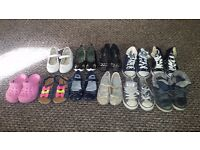 Bundle of size 10 and 11 unisex shoes/boots