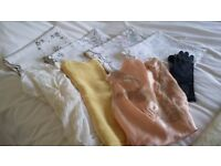 1930s Vintage clothing and linen table cloths