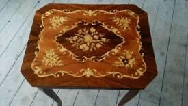 Vintage italian style music box table