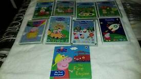 8 Peppa Pig DVDs a d 1 Peppa Pig Book