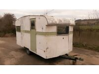 1950s vintage Cresta classic caravan - ideal for mobile shop, bar, retro catering trailer business