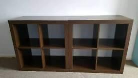 Black/Brown storage unit