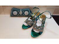 Ladies evening sandals & bag – new