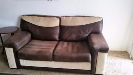 DFS SUEDE EFFECT HARDLY USED SOFA BED.
