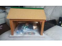 Small dolls house/shop with accessories