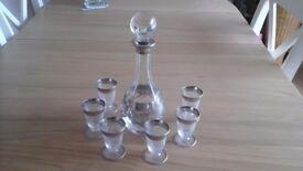 Merano glass wine set and decanter