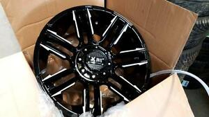 FULL SET!! BRAND NEW! 20X10 BLACK AND MILLED OFF ROAD WHEELS $1190!! FORD, CHEVY, DODGE, GMC!