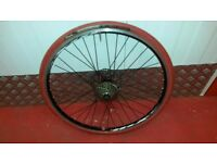 """26"""" Wheels With Turbo trainer tyre and 8 speed cassette"""