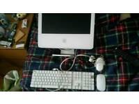 "Apple iMac G5 17"" w/ keyboard, wireless & wired mouse"