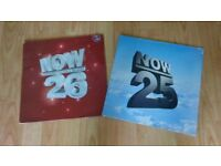 rare vinyl LP's - now 25 / now 26 thats what i call music