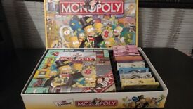 The Simpsons monopoly game board