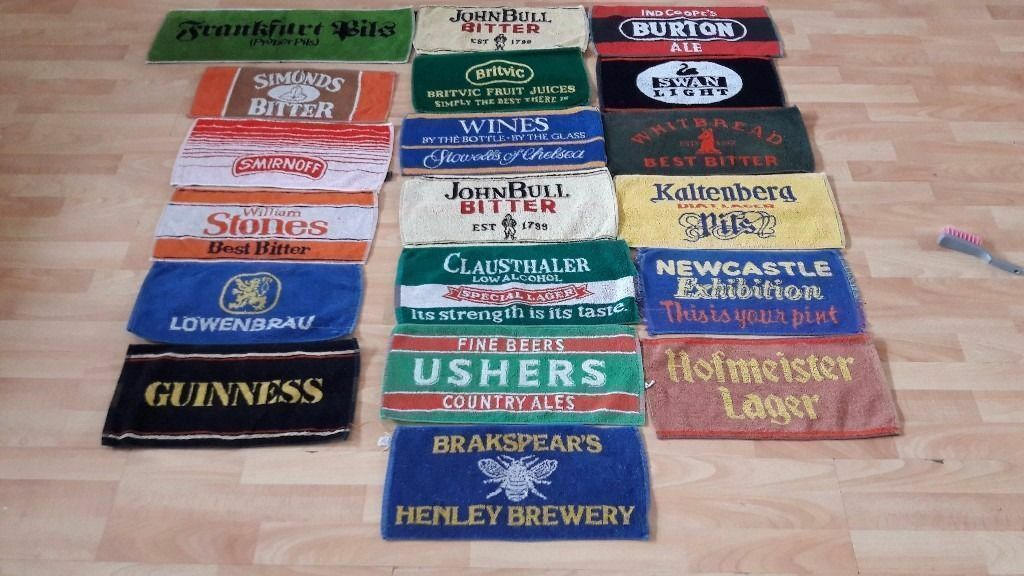 **CLASSIC BEER TOWELS**VINTAGE**COLLECTIBLE**19 AVAILABLE**RARE**£10 EACH**
