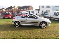 PEUGEOT 206 cc HARDROOF CONVERTIBLE