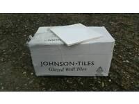White gloss tiles 148mm x 148mm