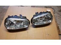 VW golf mk4 headlights / rear lights