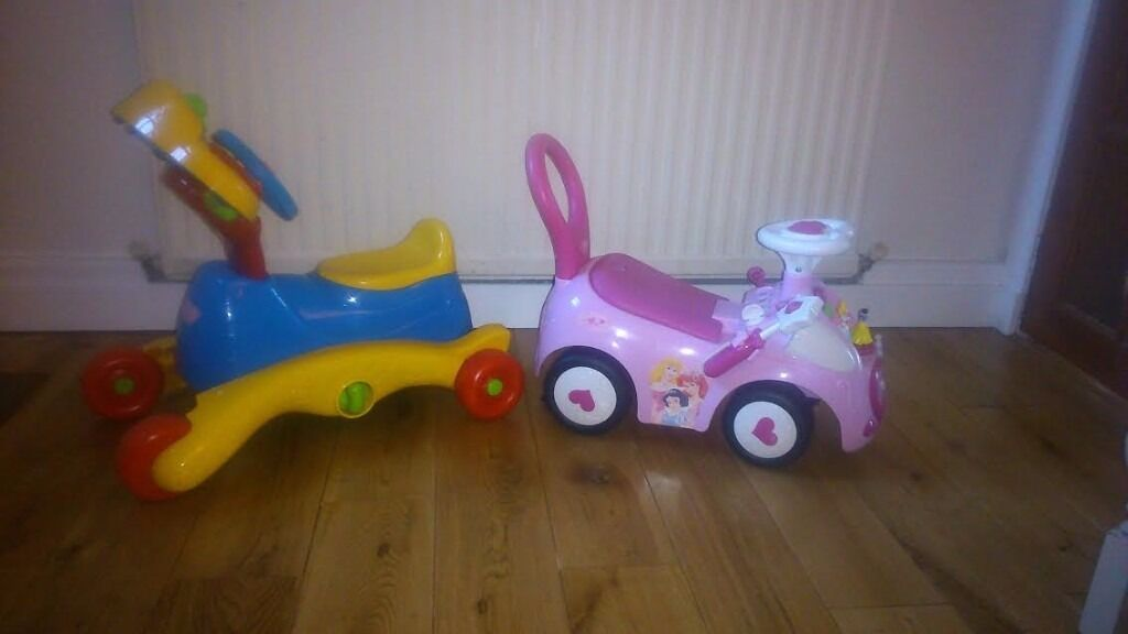 Ride OnsPerfect Christmas Present for Girl or Boyin EdinburghGumtree - Two Ride Ons available. Blue/Yellow/Red one is ideal for girls or boys has lots of car sounds so hours of fun. Pink one has princesses and also storage. Perfect Christmas present for 1 to 3 year olds. £5 each. Pick up near South Gyle during the day...