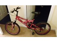 Mountain bike '20 size for girl - good working condition