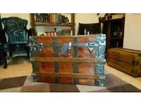 Vintage steamer wooden trunk (🇺🇸)
