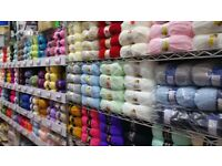 Knitting wool...large selection...Paisley Road West shop in Glasgow.