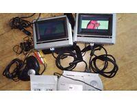 Venturer Multiregion DVD + Dual 6.2in WidescreenTFTs *25 Games + Joypad