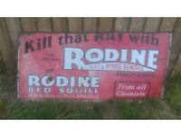 Vintage metal advertising sign