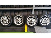 BMW Genuine 17 alloy wheels + 4 x tyres 225 45 17