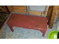 Low Wooden Outdoor Side Table