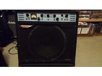 Ashdown ABM Evo 11 300w 115 Bass Amplifier with dust cover, head sleeve/case, foot switches
