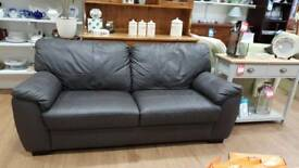 Chocolate Brown large 2 seat sofa in soft leather