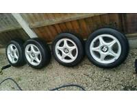 4x100 alloy wheels