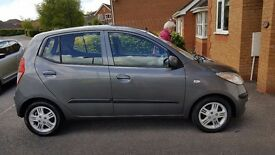 hyundai i10 5 door 27000miles mot due 11.8.17 tax due sept 17. only used for local shop trips