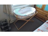 Unused Mothercare Moses Basket