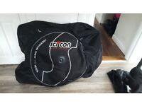 SCICON AEROCOMFORT 2.0 TSA .Road Bike travel soft case/bag on wheels. Used