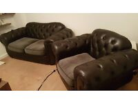 comfy big sofa 2 seater with 1 seater