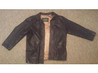 AMI London Leather Jacket Size Small (1997)