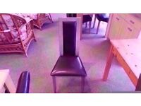 EXCELLENT CONDITION! solid wooden and leather dining chair 4 available